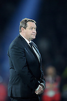 Steve Hansen, New Zealand Head Coach, waits to receive his winner's medal from Prince Harry at the end of the Rugby World Cup Final between New Zealand and Australia - 31/10/2015 - Twickenham Stadium, London<br /> Mandatory Credit: Rob Munro/Stewart Communications