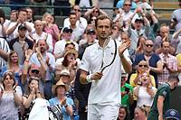 1st July 2021; Wimbledon, SW London. England; Wimbledon Tennis Championships, day 4;  Daniil Medvedev , Russia