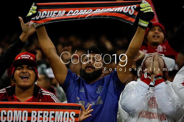 SÃO PAULO, SP 15.05.2019: CORINTHIANS-FLAMENGO - Torcida. Corinthians e Flamengo durante partida válida pelas oitavas de final da Copa do Brasil, na Arena Corinthians, zona leste da capital, na noite desta quarta-feira (15). (Foto: Ale Frata/Codigo19)