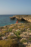 beaches and cliffs at springtime. Durghella Island