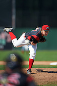 Batavia Muckdogs relief pitcher RJ Peace (22) during a game against the Auburn Doubledays on September 5, 2016 at Dwyer Stadium in Batavia, New York.  Batavia defeated Auburn 4-3. (Mike Janes/Four Seam Images)