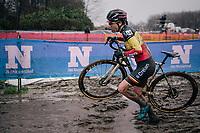 Belgian National CX Champion Sanne Cant (BEL/Iko-Crelan)<br /> <br /> UCI cyclo-cross World Cup Dendermonde 2020 (BEL)<br /> Women's Race<br /> <br /> ©kramon