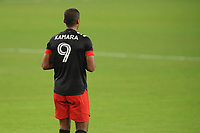 WASHINGTON, DC - AUGUST 25: Ola Kamara #9 of D.C. United during a game between New England Revolution and D.C. United at Audi Field on August 25, 2020 in Washington, DC.