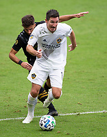 LOS ANGELES, CA - OCTOBER 25: Sacha Kljestan #16 of the Los Angeles Galaxy moves with the ball during a game between Los Angeles Galaxy and Los Angeles FC at Banc of California Stadium on October 25, 2020 in Los Angeles, California.