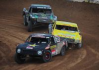 Mar. 20, 2011; Chandler, AZ, USA;  LOORRS pro two driver Brian Deegan (38) leads Rob Naughton (54) and Jeremy McGrath during round two at Firebird International Raceway. Mandatory Credit: Mark J. Rebilas-