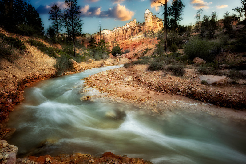 Rock formatiobns and Tropic Ditch. Zion National Park, Utah