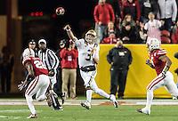 SANTA CLARA, CA - December 26, 2015: The 2015 Foster Farms Bowl. The Nebraska Cornhuskers vs the UCLA Bruins at Levi Stadium. Final score Nebraska Cornhuskers 37, UCLA Bruins 29.