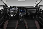 Stock photo of straight dashboard view of 2018 Toyota Corolla LE-Eco-AT 4 Door Sedan Dashboard