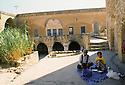 Turkey 1997 .In Tour Abdin, Midiat: a traditional architecture.Turquie 1997.A Midiat, dans une maison de la region de Tour Abdin, un exemple de l'architecture traditionnel