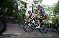 Romain Bardet (FRA/Ag2r-La Mondiale) & Mikael Cherel (FRA/Ag2r-La Mondiale)<br /> <br /> Amstel Gold Race 2014