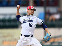 University Sharks pitcher Grant Siegel (16) during the 42nd Annual FACA All-Star Baseball Classic on June 5, 2021 at Joker Marchant Stadium in Lakeland, Florida.  (Mike Janes/Four Seam Images)