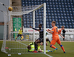 06.05.2019 Falkirk v Rangers reserves: Andy Dallas celebrates as Rhys Breen's header sails in