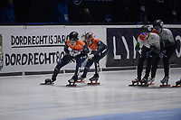 SPEEDSKATING: DORDRECHT: 07-03-2021, ISU World Short Track Speedskating Championships, Final A 5000m Relay, Jens van 't Wout (NED), Itzhak de Laat (NED), ©photo Martin de Jong
