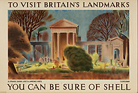 BNPS.co.uk (01202 558833)<br /> Pic: Lyon&Turnbull/BNPS<br /> <br /> Pictured: A Strange Church, Ayot St. Lawrence was feature in Shell's campaign  <br /> <br /> A vast collection of vintage Shell posters have sold at auction for almost £60,000.<br /> <br /> The group of 49 sheets were sold directly from the oil giant's archives and featured some incredibly rare designs from down the years.<br /> <br /> All of the posters had previously been used in Shell advertising campaigns, dating back to between the 1920s and 1950s.<br /> <br /> Many of the colourful designed featured the slogan 'You can be sure of Shell' and list people who preferred their fuel.