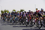 The peloton pass Al Quadra Cycle Track Stage 6 of the 2021 UAE Tour running 165km from Deira Island to Palm Jumeirah, Dubai, UAE. 26th February 2021.  <br /> Picture: Eoin Clarke   Cyclefile<br /> <br /> All photos usage must carry mandatory copyright credit (© Cyclefile   Eoin Clarke)