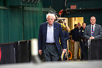 Democratic presidential candidate and Vermont senator Bernie Sanders arrives to speak at a campaign event at Hampshire Hills Athletic Club in Milford, New Hampshire, on Tue., Feb. 4, 2020. The  event started around 7pm and was the first event Sanders held after the previous day's Iowa Caucuses. The results of the caucuses were unknown until the Democratic party released partial numbers at 5pm, showing Sanders and former South Bend, Ind., mayor Pete Buttigieg both as frontrunners.