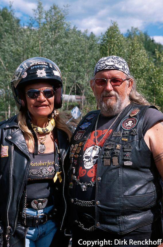 USA, Alaska, Harley-Fans bei Fairbanks