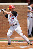 Matt Wessinger #0 of the St. John's Red Storm at bat against the VCU Rams at the Charlottesville Regional of the 2010 College World Series at Davenport Field on June 5, 2010, in Charlottesville, Virginia.  The Red Storm defeated the Rams 8-6.  Photo by Brian Westerholt / Four Seam Images