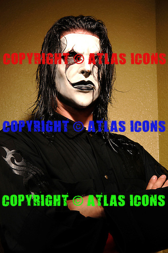 (#4) Jim Root – guitars,Slipknot Studio Portrait Session In Desmoines Iowa.Photo Credit: Eddie Malluk/Atlas Icons.com