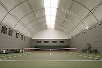 17 January 2007: Photo of the indoor tennis court at Taube Family Tennis Stadium in Stanford, CA.