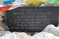 Memorial to the British Mount Everest Expeditions in Tibet
