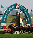 HONG KONG - DECEMBER 12:  Ryan Moore of Britain riding 'Snow Fairy' wins the Group 1 race Hong Kong Cup during the Cathay Pacific International Races at the Sha Tin Racecourse on December 12, 2010 in Hong Kong, Hong Kong. Photo by Victor Fraile / The Power of Sport Images