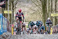 Sven Erik Bystrøm (NOR/UAE-Emirates) up the infamous Kemmelberg<br /> <br /> 83rd Gent-Wevelgem - in Flanders Fields (ME - 1.UWT)<br /> 1 day race from Ieper to Wevelgem (BEL): 254km<br /> <br /> ©kramon
