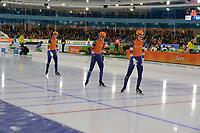 SPEEDSKATING: HEERENVEEN: 10-01-2020, IJsstadion Thialf, European Championship distances, Team Sprint Ladies, Team NED, Ireen Wüst, Letitia de Jong, Femke Kok, ©foto Martin de Jong