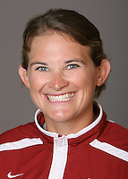 STANFORD, CA - NOVEMBER 3:  Jessica Allister of the Stanford Cardinal softball team poses for a headshot on November 3, 2008 in Stanford, California.