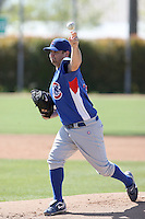 John Mincone, Chicago Cubs minor league spring training..Photo by:  Bill Mitchell/Four Seam Images.