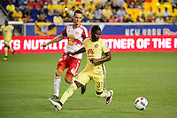 Harrison, NJ - Wednesday July 06, 2016: Konrad Plewa, Carlos Quintero during a friendly match between the New York Red Bulls and Club America at Red Bull Arena.