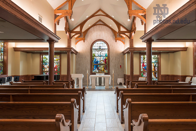 August 15, 2018; Badin Hall Chapel. (Photo by Barbara Johnston/University of Notre Dame)