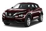 2020 Nissan Juke 5 Door SUV Angular Front automotive stock photos of front three quarter view