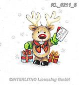 CHRISTMAS ANIMALS, WEIHNACHTEN TIERE, NAVIDAD ANIMALES, paintings+++++,KL6211/6,#xa# ,sticker,stickers
