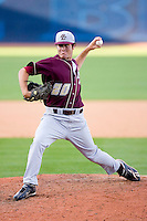 Relief pitcher Nate Bayuk #20 of the Boston College Eagles in action versus the Florida State Seminoles at Durham Bulls Athletic Park May 20, 2009 in Durham, North Carolina. (Photo by Brian Westerholt / Four Seam Images)