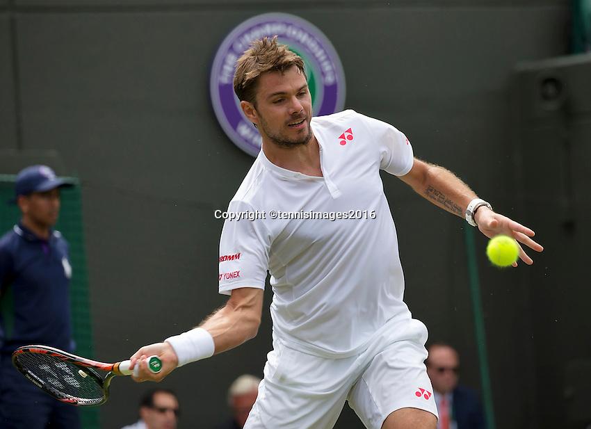 London, England, 28 june, 2016, Tennis, Wimbledon, Stanislas Wawrinka (SUI)<br /> Photo: Henk Koster/tennisimages.com