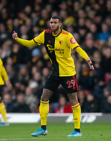 Étienne Capoue of Watford during the Premier League match between Watford and Manchester United at Vicarage Road, Watford, England on 22 December 2019. Photo by Andy Rowland.