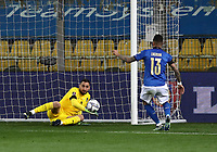 Footbal Soccer: FIFA World Cup Qatar 2022 Qualification, Italy - Northern Ireland, Ennio Tardini stadium, Parma, March 26, 2021.<br /> Italy's goalkeeper Gianluigi Donnarumma (L) in action during the FIFA World Cup Qatar 2022 qualification, football match between Italy and Northern Ireland, at Ennio Tardini stadium in Parma on March 26, 2021.<br /> UPDATE IMAGES PRESS/Isabella Bonotto