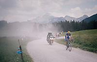 Philippe Gilbert (BEL/Quick Step floors) on the gravel section after the top of the Montée du plateau des Glières (HC/1390m)<br /> <br /> Stage 10: Annecy > Le Grand-Bornand (159km)<br /> <br /> 105th Tour de France 2018<br /> ©kramon