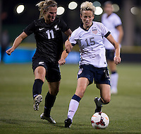 Megan Rapinoe, Kirsty Yallop. The USWNT tied New Zealand, 1-1, at an international friendly at Crew Stadium in Columbus, OH.