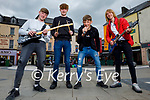 'Aftershock'  Kerry's newest rock band who plan to busk in Tralee and Killarney over the summer. L to r: Daragh Breen, Coren Hughes, Conor Breen and Seamus Fleming