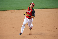 Team USA Trea Turner (8) running the bases during the MLB All-Star Futures Game on July 12, 2015 at Great American Ball Park in Cincinnati, Ohio.  (Mike Janes/Four Seam Images)