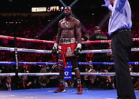 LAS VEGAS, NV - OCTOBER 9:  Deontay Wilder at the Fox Sports PBC pay-per-view Fury vs Wilder III fight night at T-Mobile Arena on October 9, 2021 in Las Vegas, Nevada.  (Photo by Frank Micelotta/Fox Sports/PictureGroup)