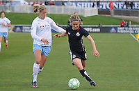 Washington Freedom midfielder Sonia Bompastor (8) fights for possession of the ball against Chicago Red Stars defender Marian Dalmy (2)  Washington Freedom tied Chicago Red Stars 1-1   at The Maryland SoccerPlex, Saturday April 11, 2009.