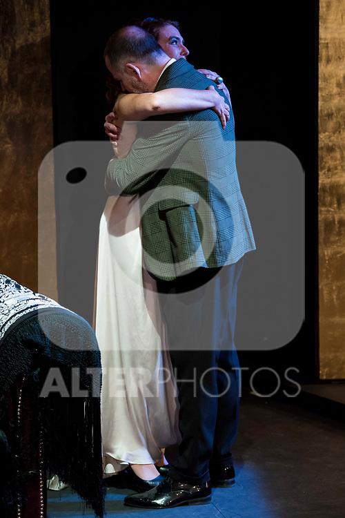"Lola Baldrich and Orancio Ortega during the theater play of ""Addio del Passato"" at Fernan Gomez Theater in Madrid. March 15, 2017. (ALTERPHOTOS/Borja B.Hojas)"