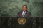 General Assembly Seventy-first session 10th plenary meeting<br /> General Debate<br /> <br /> Address by His Excellency Filipe Jacinto Nyusi, President of the Republic of Mozambique