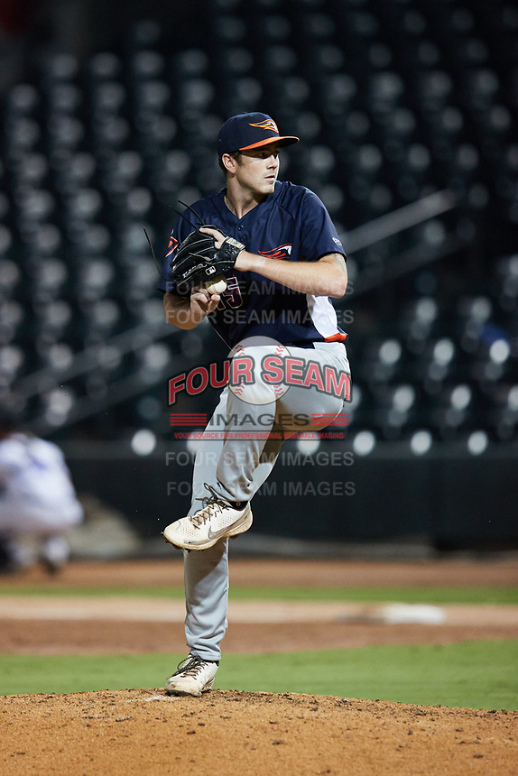 Bowling Green Hot Rods relief pitcher Nathan Witt (15) in action against the Winston-Salem Dash at Truist Stadium on September 7, 2021 in Winston-Salem, North Carolina. (Brian Westerholt/Four Seam Images)