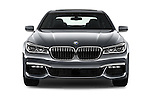 Car photography straight front view of a 2016 BMW 7 Series 4 Door Sedan Front View