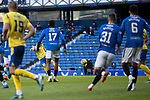 Rangers v St Johnstone…25.04.21   Ibrox.  Scottish Cup<br />Scott Tanser's volley is well saved by Allan McGregor<br />Picture by Graeme Hart.<br />Copyright Perthshire Picture Agency<br />Tel: 01738 623350  Mobile: 07990 594431