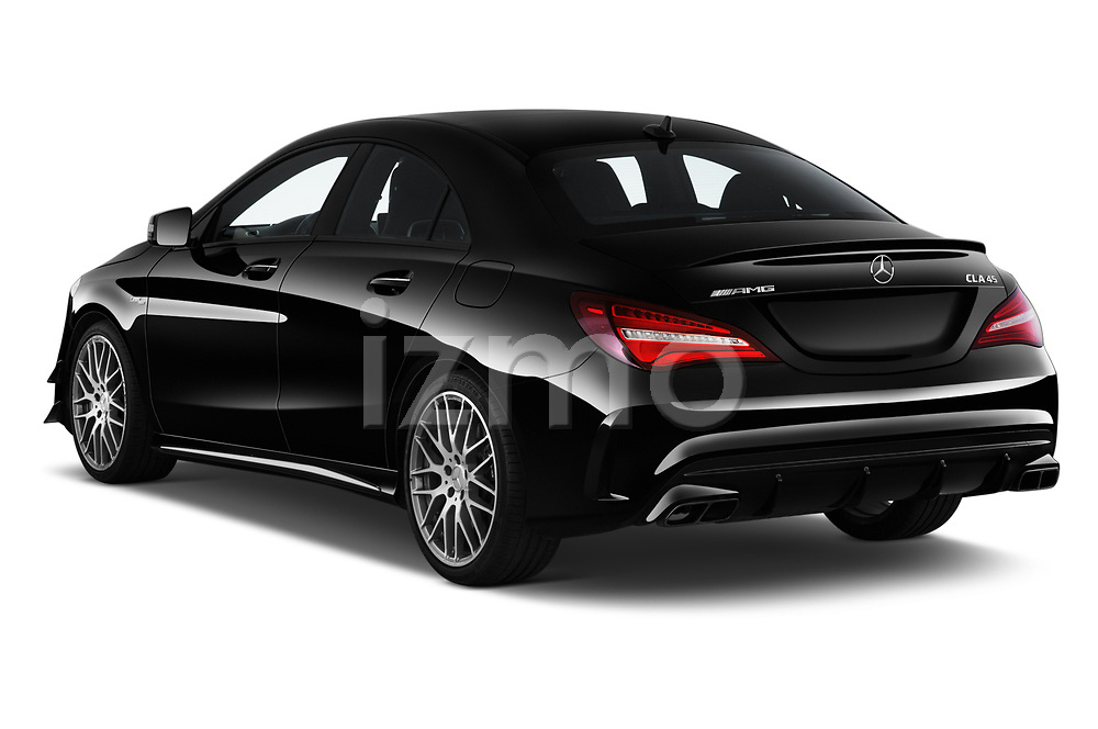 Car pictures of rear three quarter view of 2019 Mercedes Benz CLA-Coupe 45-AMG 4 Door Sedan Angular Rear